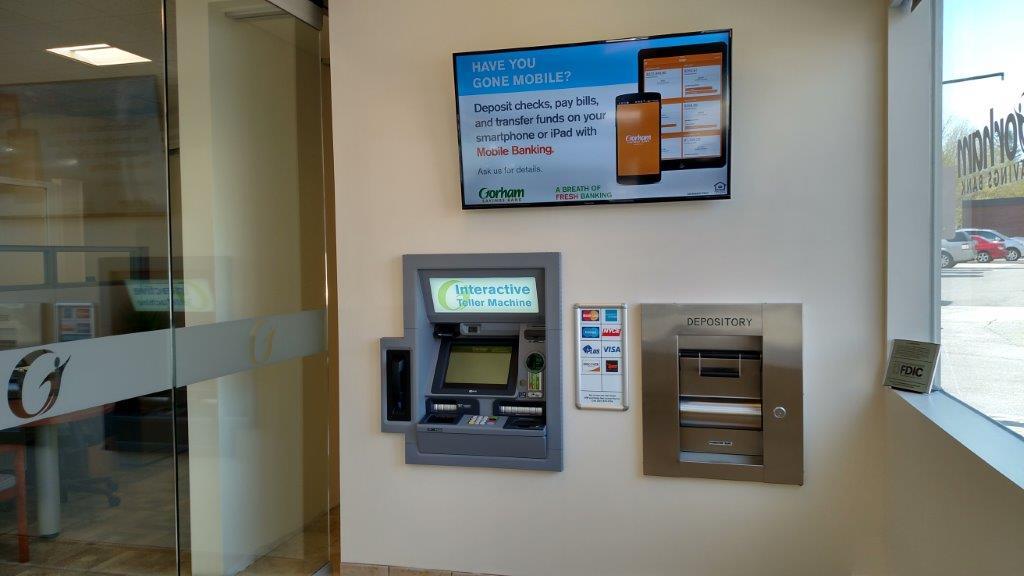 Gorham Savings Kennebunk ITM vestibule